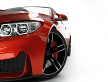 Red,Sport,Coupe,Car,Front,View,With,New,Led,Headlight