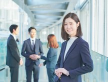 Japanese,Business,Woman,Is,Standing