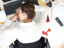 Office,Life.,Young,Woman,Sleeping,At,Workplace.