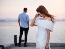 Young,Couple,Break,Up,At,The,Sea,Deck.,Girl,Crying