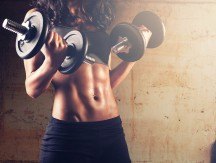 Fitness,Woman,In,Training.strong,Abs,Showing