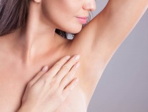 Close,Up,Of,Female,Armpit.,Model,Touching,Her,Axilla.