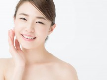 Attractive,Asian,Woman,Skin,Care,Image,On,White,Background